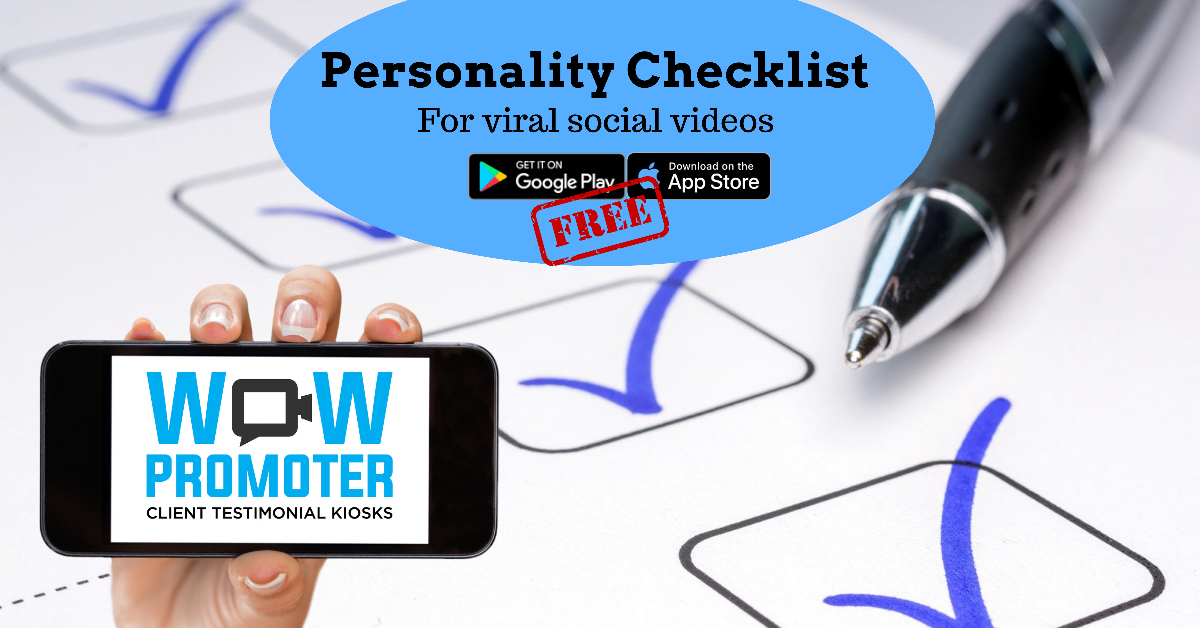 Personality Checklist - Discover Your best Attributes for Online Video