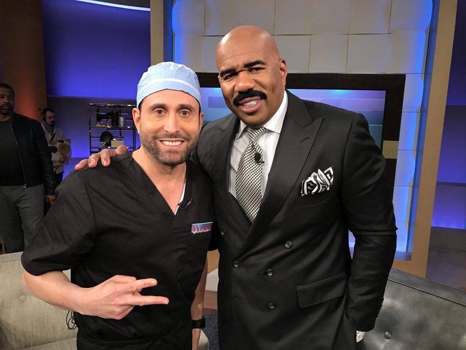 Famous comedian Steve Harvey with Dr. Miami