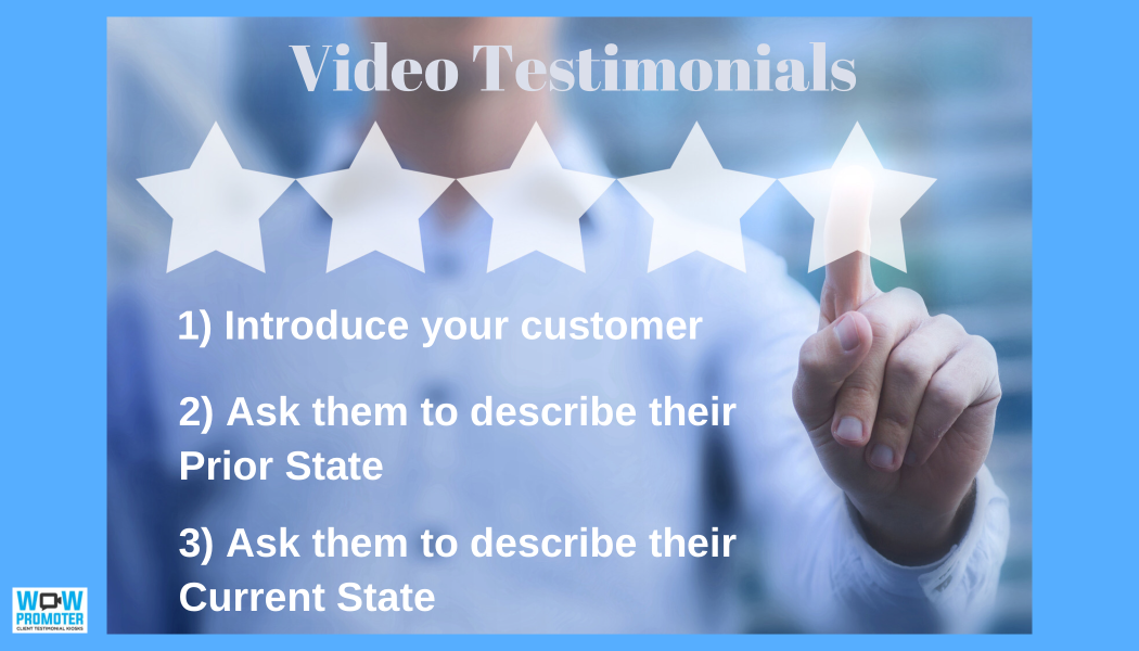 1-2-3 Story Structure for Video Testimonials